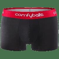 Comfyballs Underwear Cotton Regular Black Red boxershort