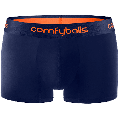 Comfyballs Underwear, Cotton Navy Tangerine Regular boxershort