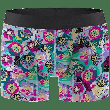 Comfyballs Cotton Boxershort Summer Safari Long, katoen boxer mix kleuren langt