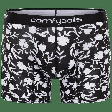 Comfyballs boxer lang, cotton mono floral long