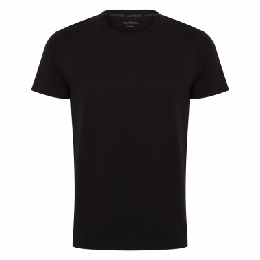 Comfyballs comfy cotton tee, t-shirt katoen zwart