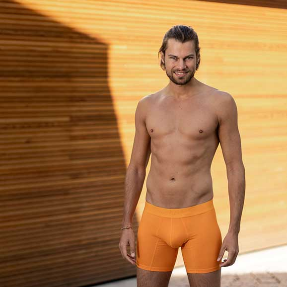 Comfyballs Cotton Ghost Flame Orange boxershort long